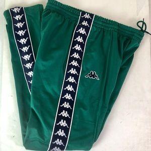 Kappa Green Rocker Hipster Street Wear Sweatpants